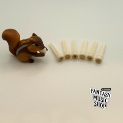 牛骨鮑魚貝鑲嵌銅環 弦釘 | 一組六支