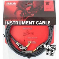 D'Addario 10ft Circuit Breaker Instrument Cables L頭+直頭快拆開關導線