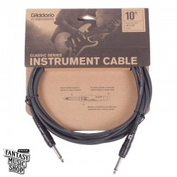 D'Addario 10ft Classic Series Instrument Cables 雙直頭導線