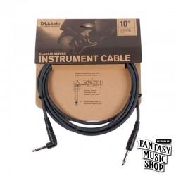 D'Addario 10ft Classic Series Instrument Cables L頭+直頭導線