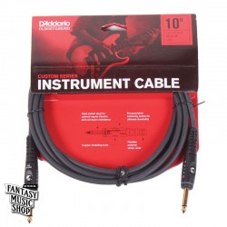 D'Addario 10ft Custom Series Instrument Cables 雙直頭導線