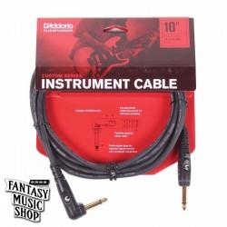 D'Addario 10ft Custom Series Instrument Cables L頭+直頭導線