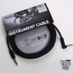 D'Addario 15ft American Stage Instrument Cables L頭+直頭導線