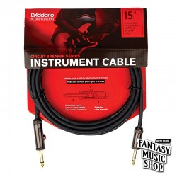 D'Addario 15ft Circuit Breaker Instrument Cables 雙直頭快拆開關導線