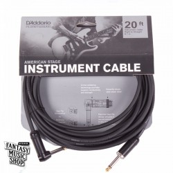 D'Addario 20ft American Stage Instrument Cables L頭+直頭導線