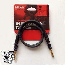 D'Addario 2ft Custom series Instrument Cables 雙直頭短導線