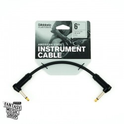 D'Addario 6in American Stage Instrument Cables L頭短導