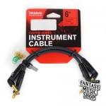 D'Addario 6in Custom Series Instrument Cables L頭鍍金短導線