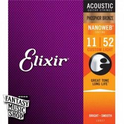 Elixir 紅銅 Nanoweb 民謠吉他弦 (11-52)