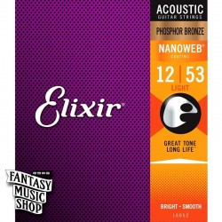 Elixir 紅銅 Nanoweb 民謠吉他弦 (12-53)