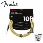 Fender Cable Deluxe 10ft TWEED 樂器導線 | 黃編織