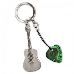 澳洲進口   金屬材質細緻吉他鑰匙圈+Pick