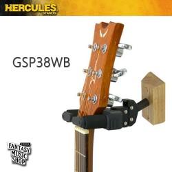 HERCULES Stands  GSP38WB 壁式吉他掛架(木製底座固定式)
