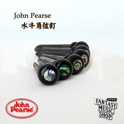 John Pearse 水牛角弦釘 Horn Pins (附真皮皮套)