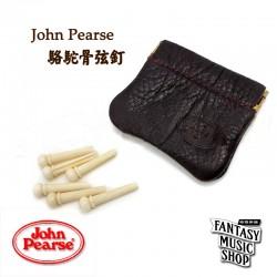 John Pearse 駱駝骨弦釘 Camel Bone Pins (附真皮皮套)