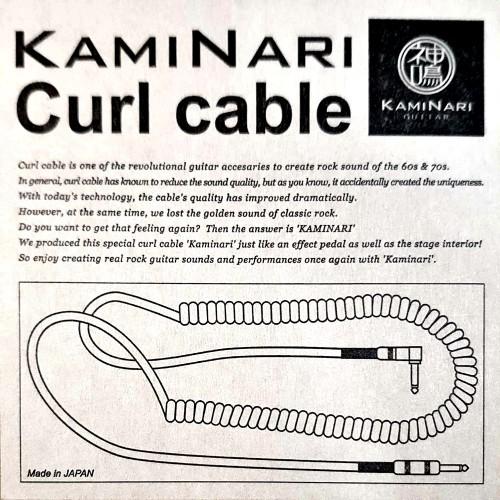 日本【神鳴】電吉他 電話線導線 | Kaminari高階手工導線 | Curl Cable