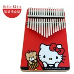 卡林巴琴 Kalinba 拇指琴 HELLO KITTY | 松木款 | 附配件 | 雙面彩色 | 板式