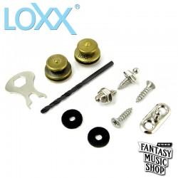 Loxx 德製安全肩帶釦-民謠/古典-復古黃銅