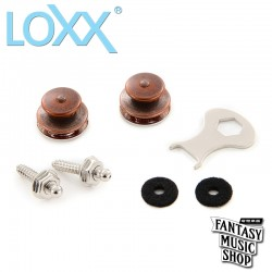 Loxx 德製安全肩帶釦-吉他/貝斯-復古紅銅
