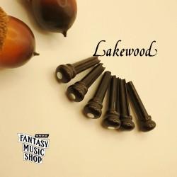 黑檀木 雲母貝點 弦釘組 | 德國Lakewood原廠