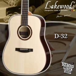 Lakewood D-32 全單板手工民謠吉他