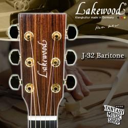 Lakewood J-32 Baritone 全單板手工民謠吉他