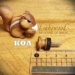 德國Lakewood木質吉他背帶釘-KOA (贈送緩衝墊片)