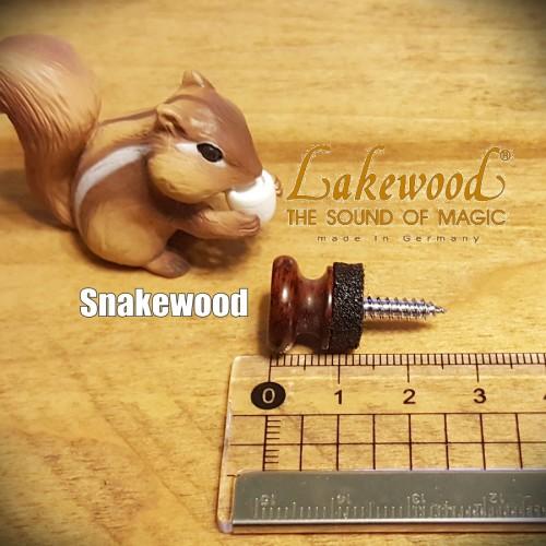 德國Lakewood木質吉他背帶釘-Snakewood (贈送緩衝墊片)