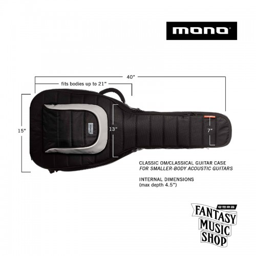 MONO 專業古典吉他琴袋(民謠OM桶)   M80-AC-BLK 吉他袋 琴袋