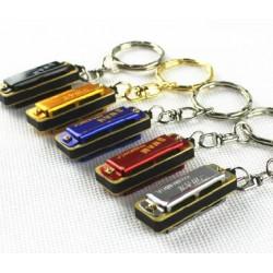 四孔迷你口琴鑰匙圈-可吹出八個音(顏色隨機出貨)
