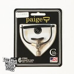 Paige Clik Capo 彈放 民謠寬版 - 美國製 不傷琴復古式移調夾 Wide Profile