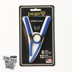 Paige Spring 夾式 Capo - 美國製 最輕量復古式移調夾 (藍色)