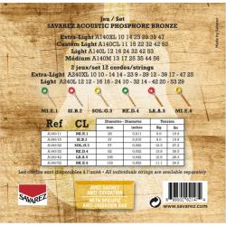 Savarez 法國經典民謠吉他弦 | 磷青銅 紅銅A140CL | 011-52