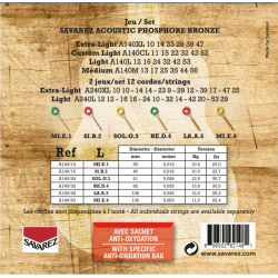 Savarez 法國經典民謠吉他弦 | 磷青銅 紅銅A140L | 012-53
