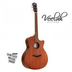 Veelah VGACMM桃花心木面板 | 經濟款入門缺角合板民謠吉他