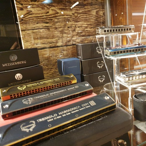 韋笙堡Weissenberg 藍調口琴 1056TI特級款 | 10孔 | 純鈦金屬製琴身 | 純鈦蓋板