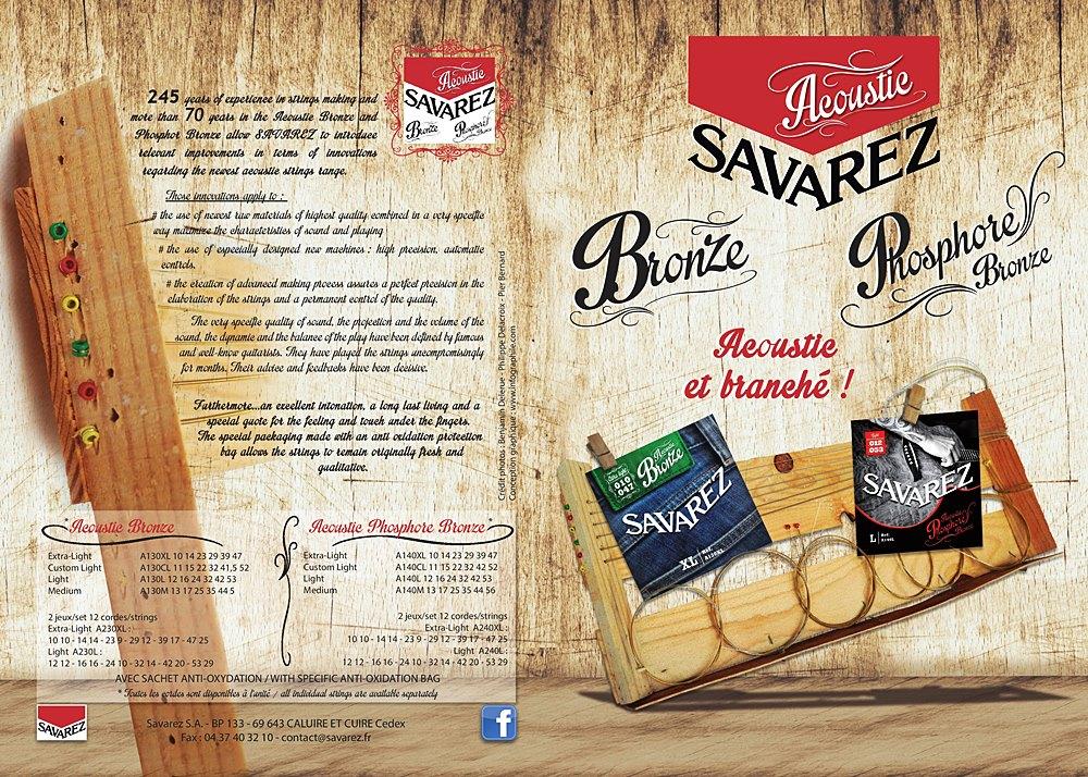 Savarez, 法國弦, 民謠吉他弦, 磷青銅, 紅銅弦,